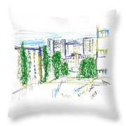 Nyzhny Novgorod, Russia, Kuznechiha. 24 August, 2015 Throw Pillow