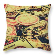 Nz Post Background Throw Pillow