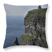 O Brien's Tower At The Cliffs Of Moher Ireland Throw Pillow