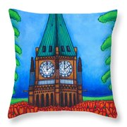 O Canada Throw Pillow by Lisa  Lorenz