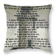 O Captain My Captain Lighthouse Throw Pillow