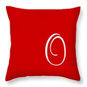 O In White Simple Script Throw Pillow