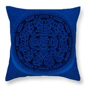 O R E O In Blue Throw Pillow