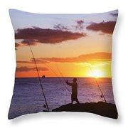 Oahu Fisherman Throw Pillow