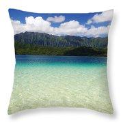 Oahu, Kaneohe Bay Throw Pillow