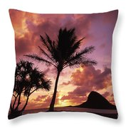 Oahu, Mokolii Island Throw Pillow