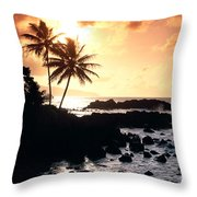 Oahu, North Shore Throw Pillow