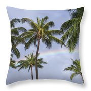 Oahu, Rainbow Throw Pillow