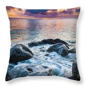 Oahu Shoreline Throw Pillow