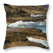 Oahu, Southeast Coast Throw Pillow