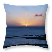 Oahu Sunset Throw Pillow