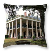 Oak Alley Plantation Throw Pillow by Perry Webster