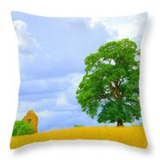 Oak And Barn Throw Pillow