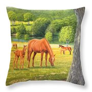 Oak And Chestnuts Throw Pillow