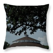 Oak And Round Barn Throw Pillow