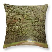 Oak Avenue Throw Pillow