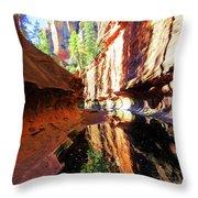 Oak Creek Canyon 1 Throw Pillow