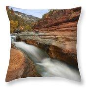 Oak Creek In Slide Rock State Park Throw Pillow