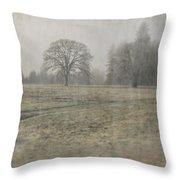 Oak Field Throw Pillow