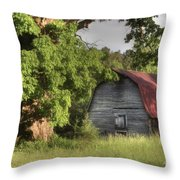 Oak Framed Barn Throw Pillow by Benanne Stiens