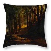 Oak Grove At San Terenzo Throw Pillow