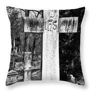 Oak Hill Cemetery Crosses #2 Throw Pillow