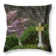 Oak Hill Cemetery Crosses Throw Pillow