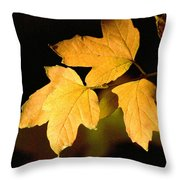 Oak Leaf Trio Throw Pillow