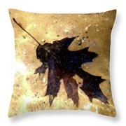 Oak Leaf Underwater Throw Pillow