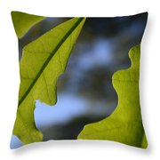 Oak Leaves Abstract Designed By Nature Throw Pillow