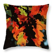 Oak Leaves In Autumn Throw Pillow