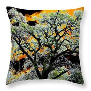 Oak Oasis Throw Pillow