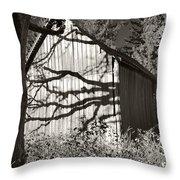 Oak Shadows On A Barn Throw Pillow