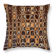 Oak Stump Abstract Throw Pillow
