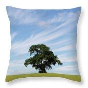 Oak Tree Landscape Throw Pillow