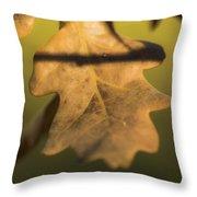 Oak Tree Leaf Throw Pillow