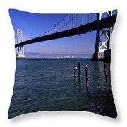 Oakland Bay Bridge 1985 Throw Pillow