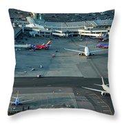 Oakland International Airport Throw Pillow