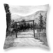 Oakley Ranch Entrance Throw Pillow