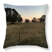 Oaks At Dusk Throw Pillow