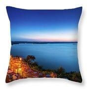 Oasis At Night Throw Pillow