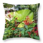Oasis Jungle Throw Pillow