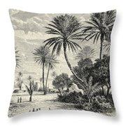 Oasis Of Gafsa  Tunis Throw Pillow