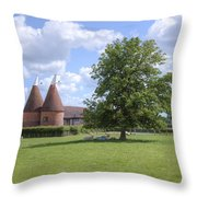 Oast House In Kent - England Throw Pillow