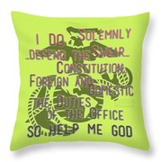 Oath Throw Pillow by TortureLord Art