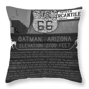 Oatman Arizona Throw Pillow