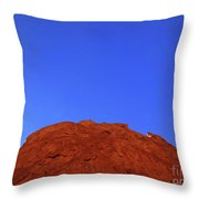 Oatmeal Cookie Throw Pillow by Inessa Burlak