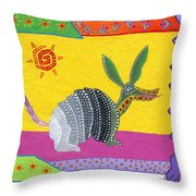 Oaxacan Armadillo Throw Pillow