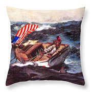 Obama At Sea Throw Pillow