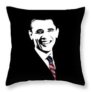 Obama Graphic Throw Pillow